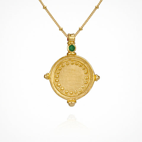 Sura Necklace - Gold - Emerald
