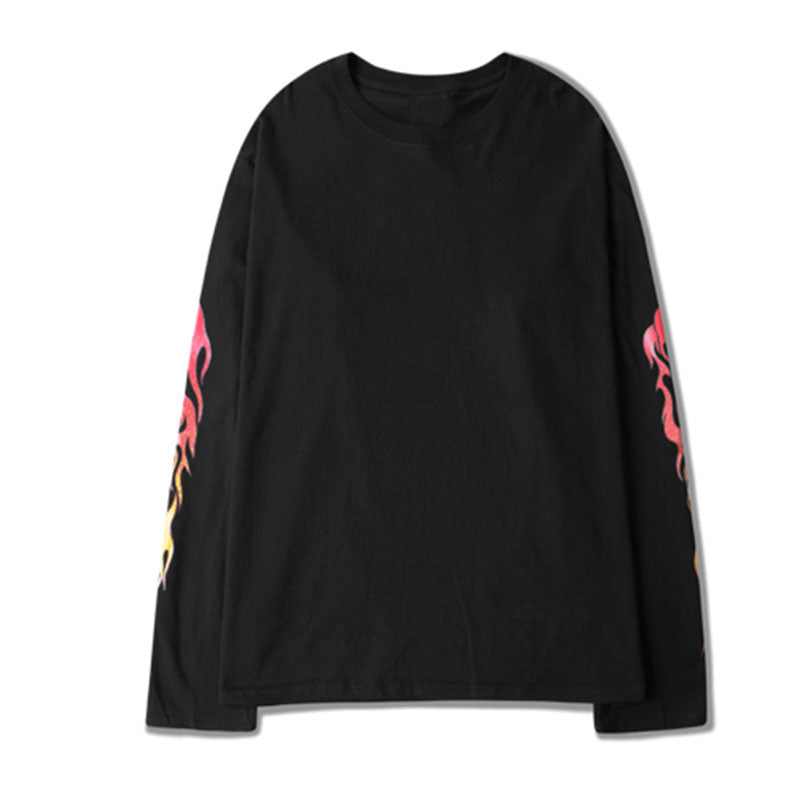 [HWTH] Long Sleeve Flame Printed [Heartlessking]