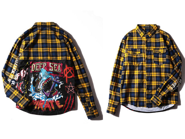 HEARTLESSKING X GONTHWID Plaid EXTENDED SHIRT
