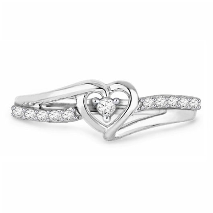 Heart Ring, Sterling Silver Ring, Cubic Zirconia, Ring, Sterling Silver, Jewellery, Jewelry