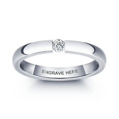 Engagement Ring, Personalised Ring, Titanium Ring, Ladies Ring, Unique Ring, Promise Ring, Engraving, Personalized Jewelry, Jewellery