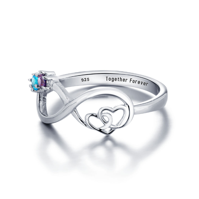 2 Hearts 4 Infinity!  925 Sterling Silver Ring