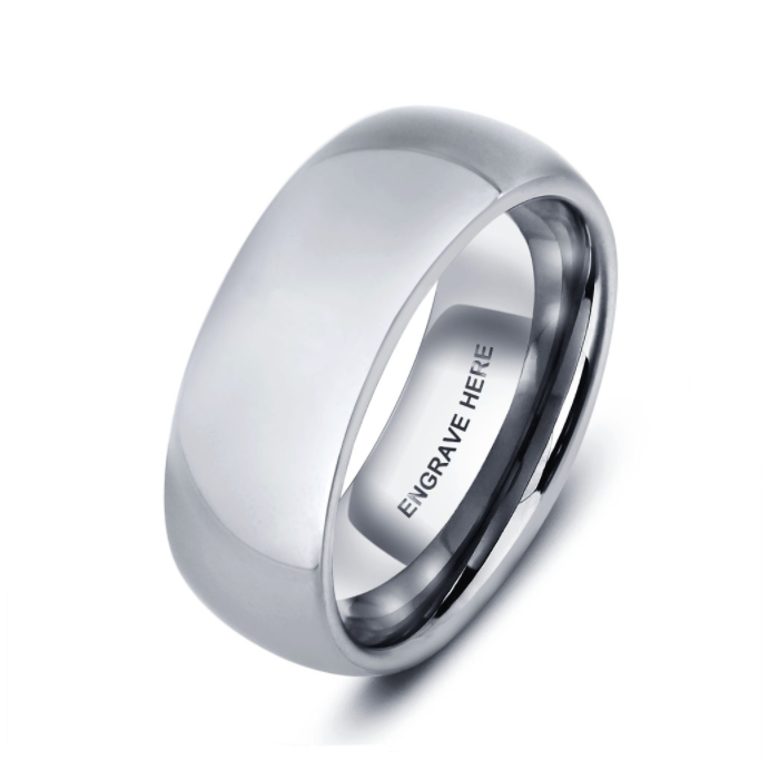 Personalised Ring, Tungsten Ring, Mens Ring, Unisex Ring, Promise Ring, Engraving, Personalized Jewelry, Jewellery