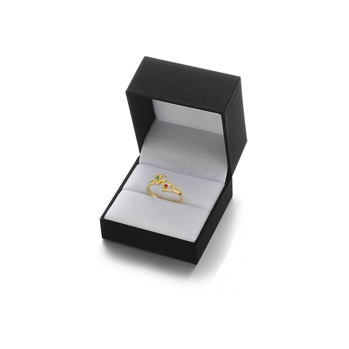Personalised Ring, Sterling Silver with 18K Gold Plating, Choose Birthstones and Engraving