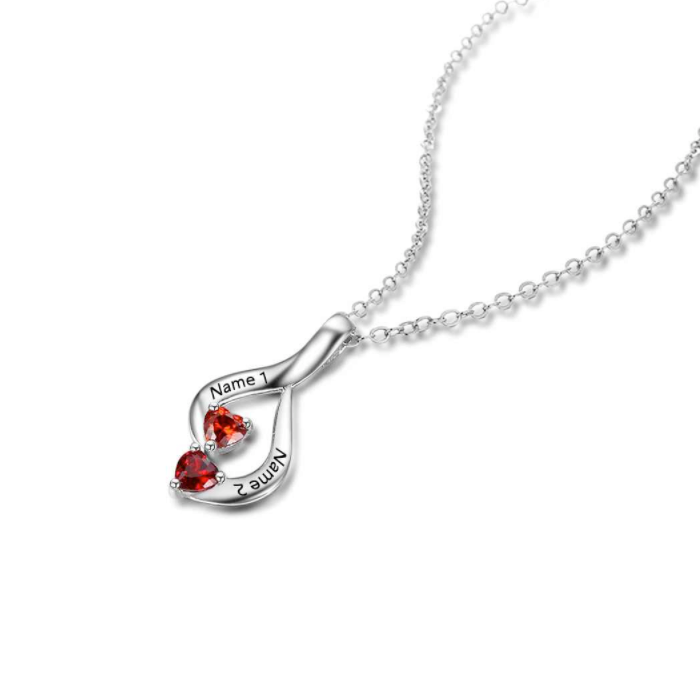 product sterling family silver necklace circle birthstone wid