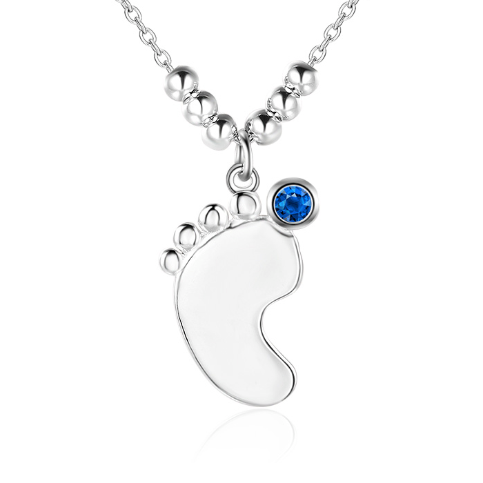 sterling silver products initial charm il new mom expecting heart grande gift baby feet footprint jewelry necklace fullxfull