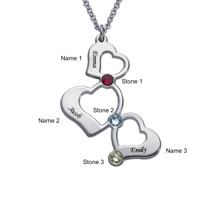 custom stone silver mother necklace mothers charms s birthstone personalized sterling key