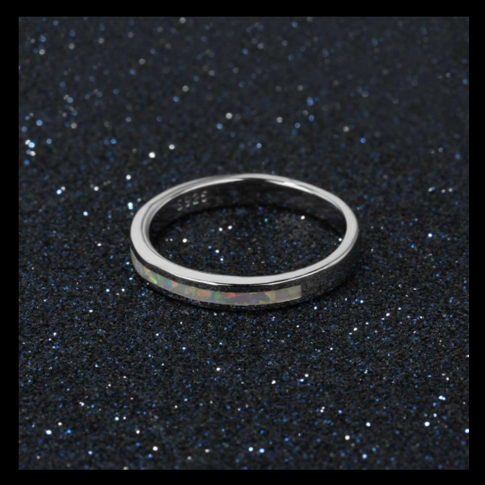 Rings, Opal Rings, White Opal, Promise Ring, Created Opal, Sterling Silver, Jewellery, Jewelry