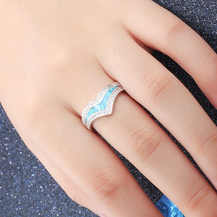 Rings, Opal Rings, Blue Opal, Created Opal, Dress Ring, Bling Ring, Sterling Silver, Jewellery, Jewelry