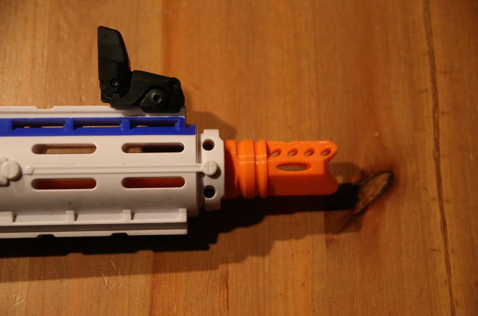 Orange Aggressor flash hider