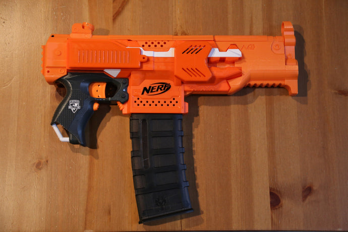 Orange or Elite blue stryfe 180 motor cover