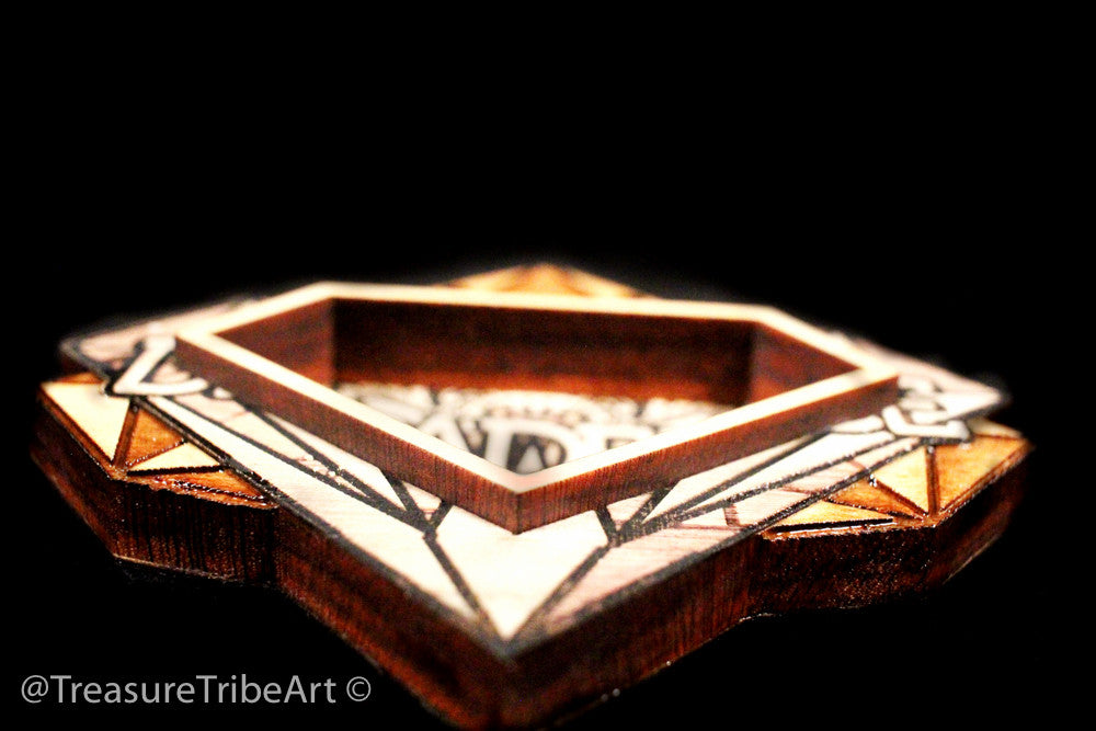 Decadence Themed Magnetic Stash Pendant | Maple Wood - Treasure Tribe Art