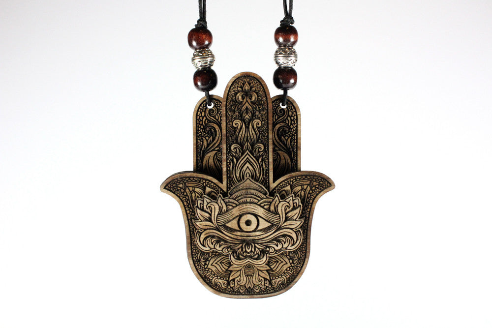 "HAMSA II 3"" Magnetic Wood Stash Pendant W/Ryott Digger One Hitter 
