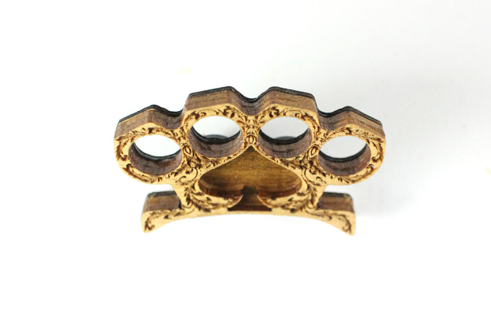 Brass Knuckle Hat Pin Item #1008