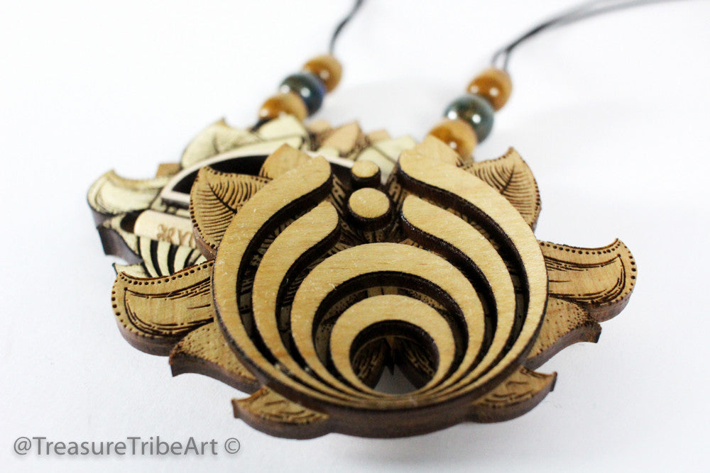 Bassnectar Theme'd Lotus Magnetic Stash Pendant W/One Hitter 4"