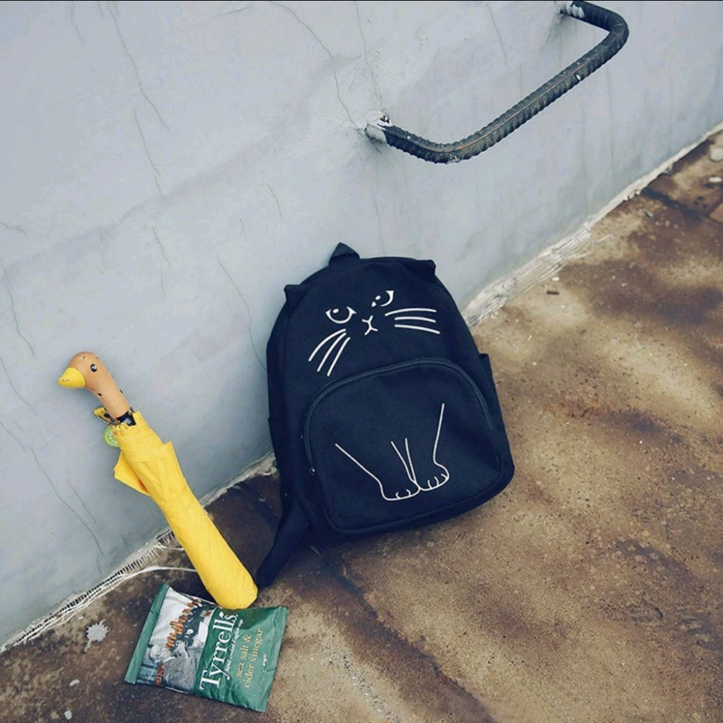 Lovely Cat Printing Backpack
