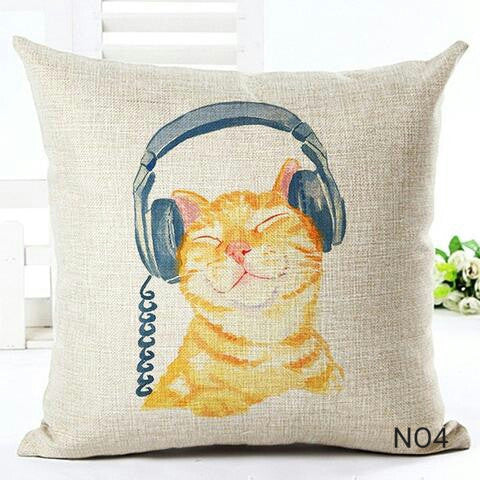 Lovely Cat Decorative Throw Pillow