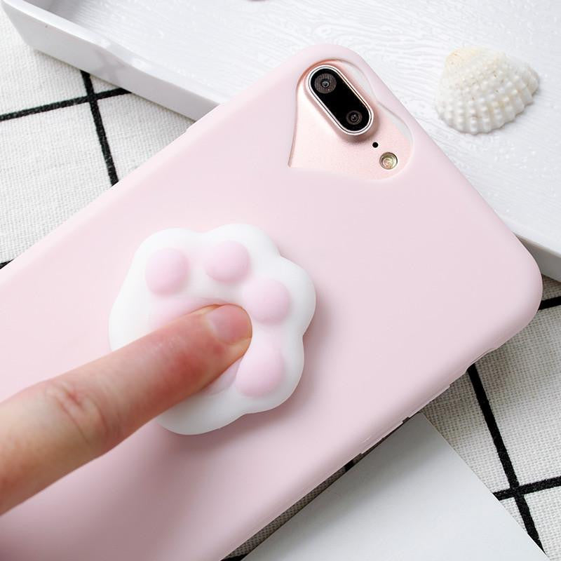 Squishy Cat Paw iPhone Case