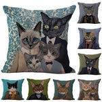 Cartoon Cat Printed Pillowcase