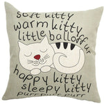 Cute Cat on Action Pillowcase