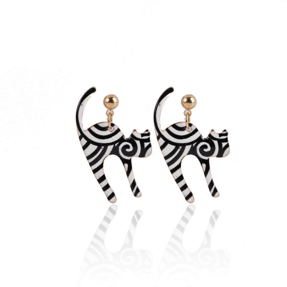 Lovely Kitty Stud Earrings