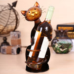 Wine Bottle Holder for Catlovers