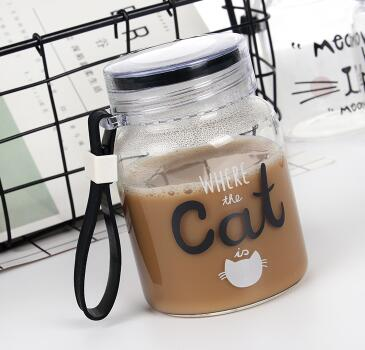 Portable Glass Bottle for Catlovers