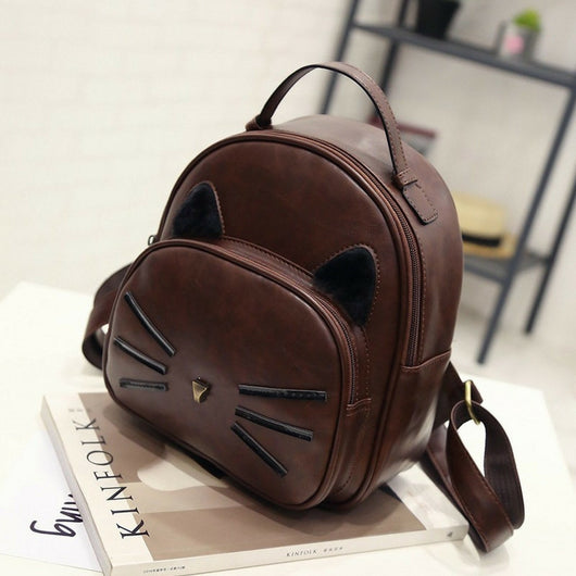 Cat ear preppy style mini backpack