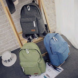 Japanese canvas girl backpack