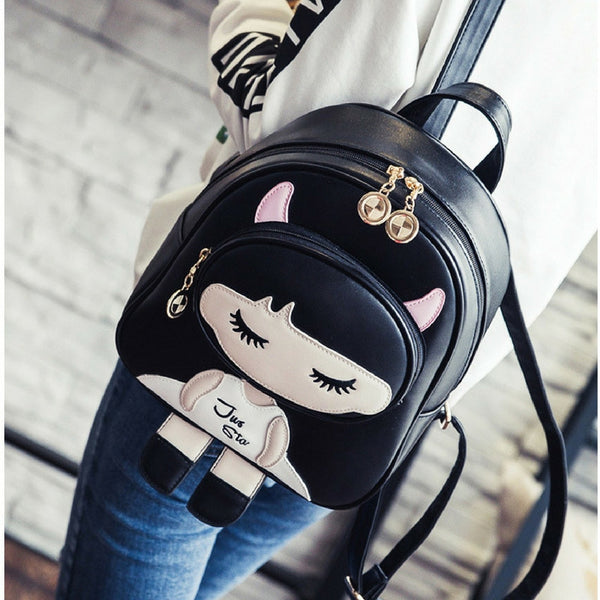 Cute cartoon girl backpack