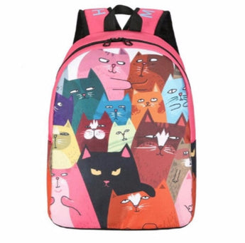 Cute cartoon cats backpack