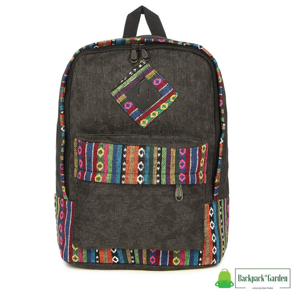 Ethnic school backpack Dark