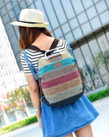 Ethnic backpack rainbow color
