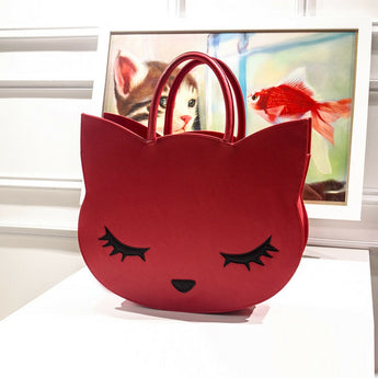 Fashion cat head handbag large size