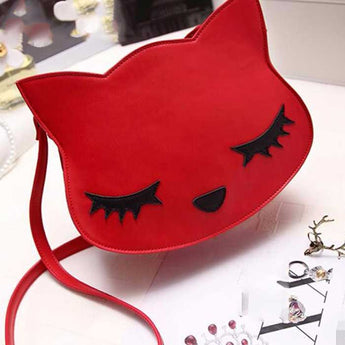 Fashion cat head handbag small size