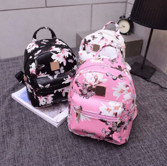 Girl backpack flower patterns