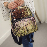 Girly backpack sequin decor