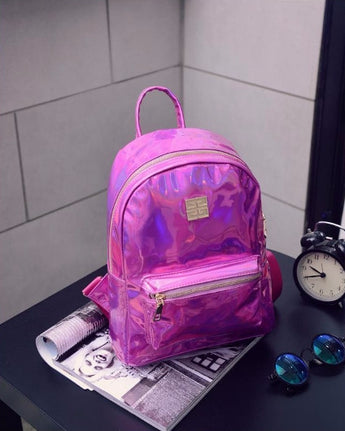 Girly hologram laser backpack