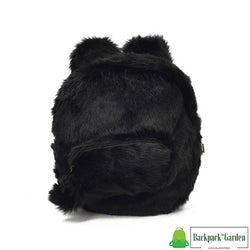 Plush bunny backpack model unagi black