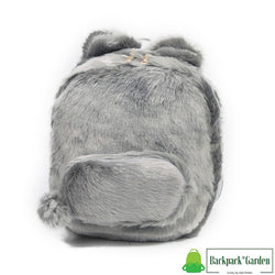 Plush bunny backpack model unagi gray