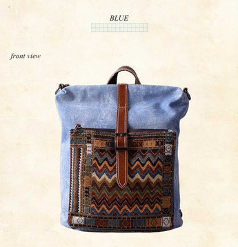 Travel backpack ethnic striped