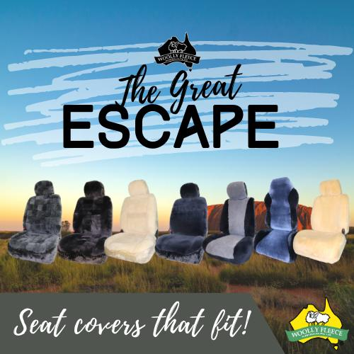 The Great Escape Range - Sheepskin Seat Covers