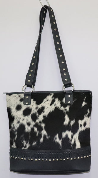 Alma Tote Bag - 100% Leather and Cowhide