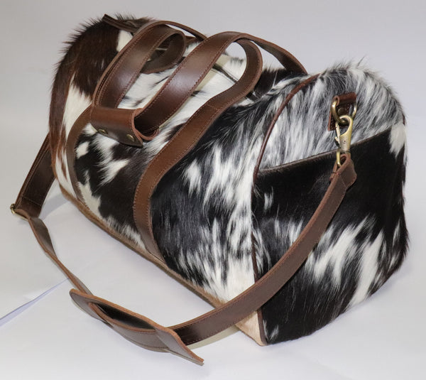 Sylvia Barrel Bag - 100% Leather and Cowhide