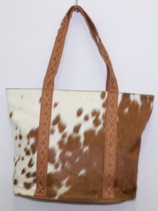 Donnella Tote Bag - 100& Leather and Cowhide
