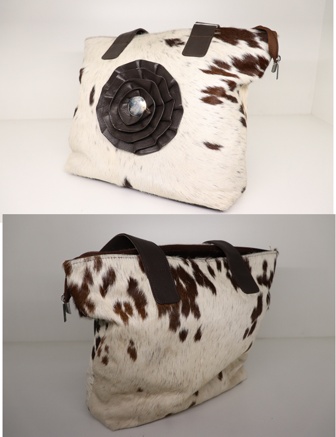 HB COW HIDE FLOWER FEATURE