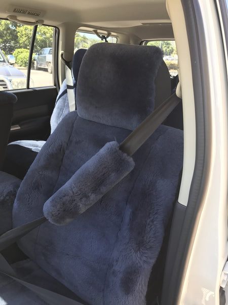 SEAT BELT COVERS SHEEP SKIN