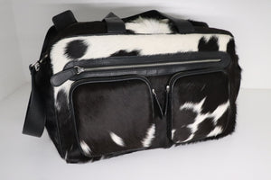 HB COW HIDE NAPPY BAG OVERNIGHT BAG