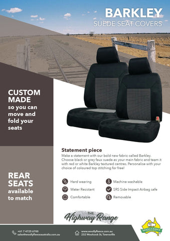 WF HW Barkley - Custom Made Suede Seat Covers