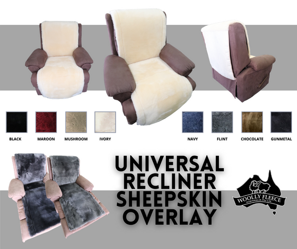 UNIVERSAL RECLINER CHAIR COVER SHEEP SKIN with lacing